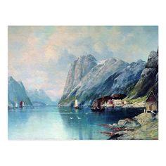 Landscape Paintings, Landscapes, Norway Landscape, Norway Fjords, Archaeological Site, Travel Maps, Posters, Age, Money
