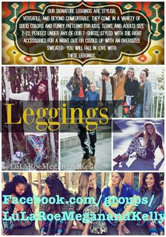 """I love me some LuLaRoe """"butter leggings"""" Have you tried them yet??? Come on by our Facebook page and see what all the hype is about!"""