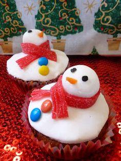 les rêves d'une boulangère: Christmas Snowmen Cupcakes