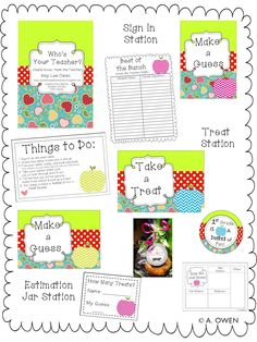Meet the Teacher Night (Apples) #sweetteaandmosquitoes.blogspot.com