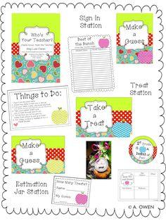Meet the Teacher Night (Apples) #sweetteaandmosquitoes.blogspot.com