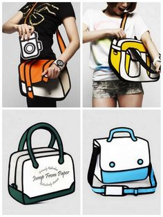 bolsas-3D-jumpfrompaper Jump From Paper, Art Bag, Handmade Bags, I Got This, Purses And Bags, 3d, Fashion, Creativity, Products