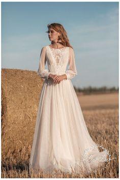 Free People Wedding Dress, Retro Wedding Dresses, Bohemian Wedding Dresses, Chic Wedding, Bridal Dresses, Wedding Gowns, Floral Wedding, Muslimah Wedding Dress, Mode Inspiration