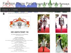 Fashionpaigeparis blogspot on aura tout vu couture paris runway