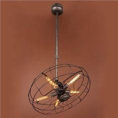 Kronleuchter Ventilator Design im Landhausstil