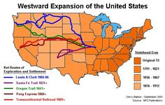 "Westward Expansion is buying more territory like the Louisiana Purchase and expanding the nation out westward. It was ""the key to the nation's health"" according to Jefferson"