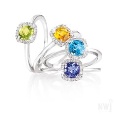 Diamond Collection: Peridot, Citrine, Topaz and Tanzanite Gold Rings at NWJ *Valid for 2013 Gold Jewelry, Jewelery, Jewelry Accessories, Fine Jewelry, Peridot, Topaz, Sapphire, Silver Rings, Engagement Rings