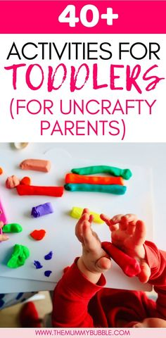 Do you want some play ideas for your toddler but you struggle with crafts? I love browsing the prett Fun Activities For Toddlers, Water Games For Kids, Fun Activities For Kids, Family Activities, Easy Toddler Crafts, Toddler Snacks, Crafts For Kids, Easy Crafts, Backyard For Kids