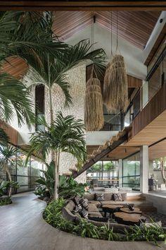 Dream Home Design, Modern House Design, My Dream Home, Tropical House Design, Tropical Houses, Modern Tropical House, Future House, My House, Jungle House