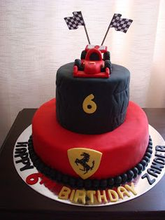 Every little boy needs to have at least one of his birthdays dedicated to cars. Ferrari Cake, Car Party, Vanilla Essence, Birthdays, Cakes, Anniversaries, Birthday, Birth Day