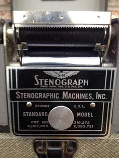 Sale- Stunning Stenograph Machine - Court recorder- Mid-Century short hand with Tweed style hard case  on Etsy, $28.95