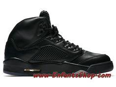 9522f35db4d0 Air Jordan 5 Retro Premium 881432-010 Chaussures Jordan Basket Pas Cher  Pour Homme Noir