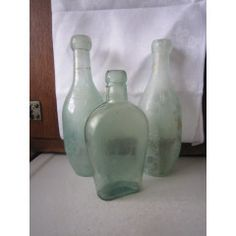 3 WHACKY ANTIQUE BOTTLES  ITEM NO 2204