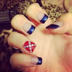Confederate flag nails confederate nails nail art pinterest rebel flag nails 3 prinsesfo Gallery