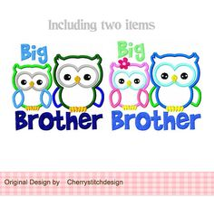 Big Brother BG0002Big brother for lil by CherryStitchDesign