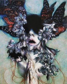 Milan based Italian artist @marcomazzoniart has used colored pencil  on paper to create this beauty The Hell as an Empty Space   http://ift.tt/2DYxhVq  Follow @parts_of_culture for more art  share your art with our community by using #partsofculture  Working exclusively with colored pencils Marco Mazzoni makes highly intricate drawings of flora and fauna that pertain to the ancient art of healing. Inspired by the matriarchal culture of Sardinia Mazzoni depicts female herbalists and midwives…