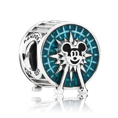 "Pandora Charms California Adventure ""Mickey's Fun Wheel"" Charm - Famous Last Words Charm Pandora Disney, Pandora Uk, Pandora Rings, Pandora Jewelry, Charm Jewelry, Charm Bead, Gold Jewelry, Cheap Pandora, Pandora Beads"