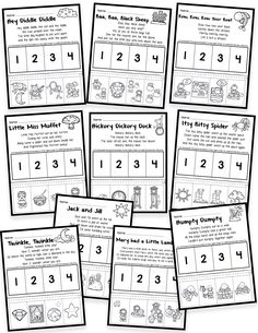 Story retelling is an important early literacy skill! Here is a FREE Nursery Rhy… Story retelling is an important early literacy skill! Here is a FREE Nursery Rhymes worksheet to practice story retelling skills with your students! Nursery Rhymes Kindergarten, Free Nursery Rhymes, Preschool Literacy, Literacy Skills, Early Literacy, Kindergarten Classroom, Kindergarten Activities, Nursery Rhyme Activities, Nursery Rhyme Crafts