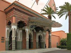 L'entrée de la Mamounia à Marrakech (Maroc)