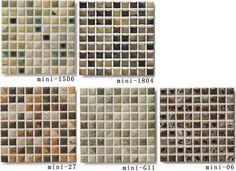 アンティークなマーブル調 レトロモダン建材 美濃焼。モザイクタイル シート販売 15角 アンティーク 大理石調 磁器質 緑。ミックスデザインタイル対応、おしゃれなレトロモダン風。キッチン・玄関・テーブル・浴室(風呂)洗面所のDIYリフォームにOK。床・壁インテリア建材・日本製・美濃焼・耐熱