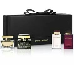 Dolce & Gabbana mini perfume set ~ special edition ~ in elegant packaging 100% Authentic