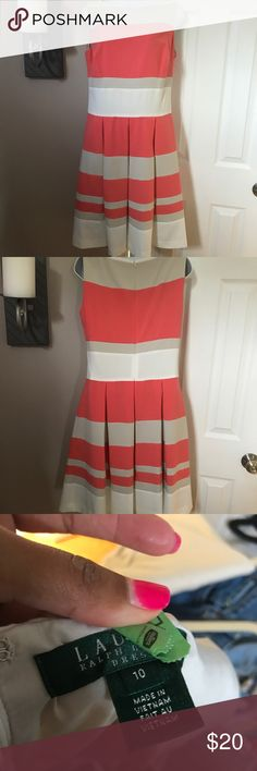 Fit and Flare Dress Brand new without tags. Great dress 👗 cut and color. Hidden zipper. Ralph Lauren Dresses