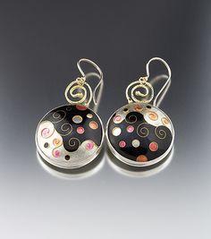 GoodnPlenty Cloisonne Earrings by Jan Van Diver: Enameled Earrings available at www.artfulhome.com