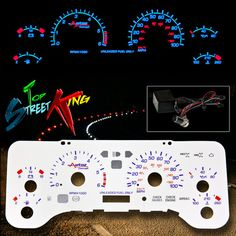 REVERSE INDIGLO GLOW GAUGE FACE 97-06 JEEP WRANGLER TJ DASH CLUSTER AT/MT