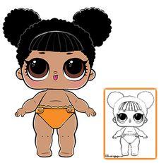 LOL Surprise Doll Coloring Pages - Página 5 - Colora a sua boneca de surpresa LOL favorita!