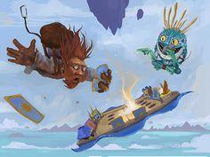 Hearthstone Skydiving by sergiosuarez26.deviantart.com on @deviantART  #gaming #blizzard #hearthstone #murloc #fanart