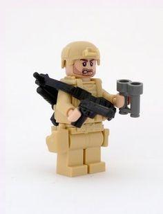 Desert soldier. Custom Lego minifigure