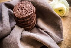 Dark chocolate and sea salt tender cookies