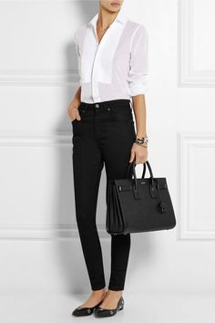 French Ethereal - Saint Laurent|Sac De Jour small textured-leather tote|NET-A-PORTER.COM