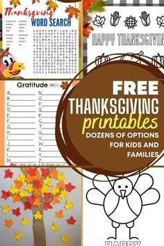 35+ Free Thanksgiving Printables for Kids and Families