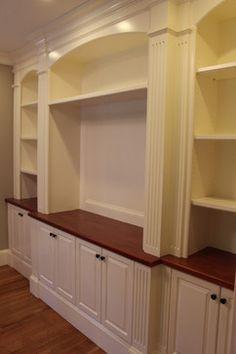 Entertainment Center - Traditional - Spaces - Boston - Custom Home Finish