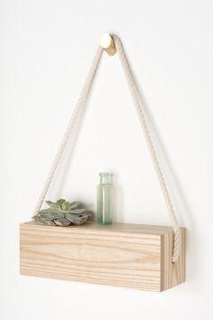 Ash Rope Box - Rectangular - Light + Ladder