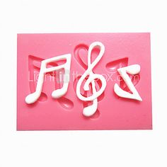 Music Notes Syncopated Sixteenth Note Fondant Cake Molds Chocolate Mould For The Kitchen Baking For Sugar Candy - USD $1.99