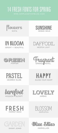 GOOD FONTS Bloglovin - Popular - DIY & Crafts - United States