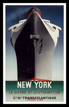 New York via Southampton, A. M. Cassandre
