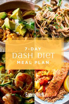 DASH Diet Menu This DASH Diet meal plan to help lower your blood pressure, lose weight and prevent diabetes.This DASH Diet meal plan to help lower your blood pressure, lose weight and prevent diabetes. Dash Diet Meal Plan, Dash Diet Recipes, Diet Meal Plans, Healthy Recipes, Healthy Meals, Dash Eating Plan, Eating Plans, Healthy Drinks, Dieta Dash