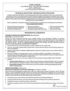 recruiterresumetemplates recruiter resume examples