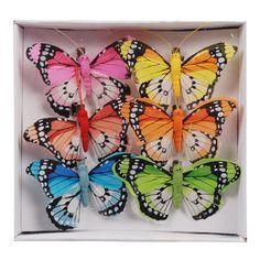 vlinder op clip 6st 8cm div.varianten - Action Nederland B.V.