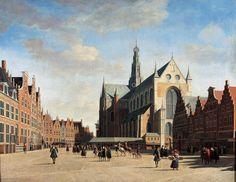 The Grote Markt and Sint-Bavokerk, Haarlem, in 1696, by Gerrit Berckheyde