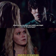 """#The100 3x11 """"Nevermore"""" - Bellamy and Clarke"""