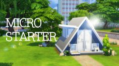 Micro A-Frame Starter | Sims 4 Speed Build ONLY 13 SQUARES!