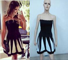 a Vestido Casual, Casual Dresses For Women, Strapless Dress, Party Dress, Slim, Black And White, Princess, Cute, Fashion