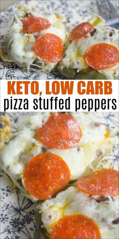 With this low carb Keto Recipe Pizza Stuffed Peppers, you can enjoy the flavors of pizza while staying on program. #keto #lowcarb #ketorecipe