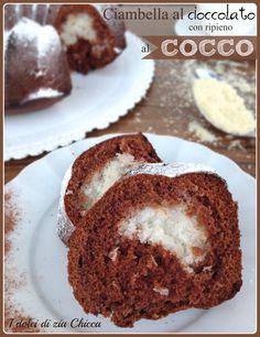 Ciambella al cioccolato con cuore al cocco