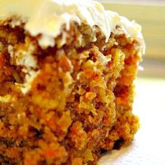 Very moist but very light carrot cake - click for recipe