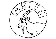 Aries Zodiac Sign Coloring Page Space Coloring Pages, Mandala Coloring Pages, Coloring Pages For Kids, Zodiac Signs Colors, Zodiac Signs Aquarius, Printable Coloring Sheets, 12 Signs, Zodiac Constellations, Tattoos